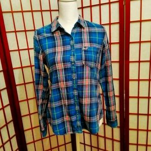 💐3/$15💐HOLLISTER FLANNEL FITTED SHIRT M
